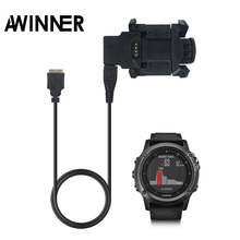 Replace Charging Cradle Dock+USB Data Cable Sync For Garmin Fenix 3 HR / Quatix 3