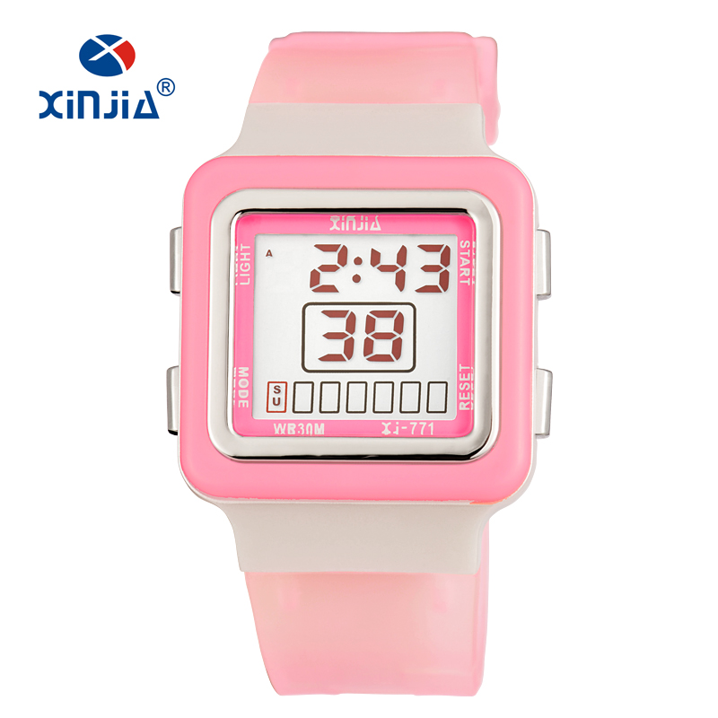 Hot XINJIA Fashion Women Sports Watches Waterproof 30m Ladies Jelly LED Digital Watch Swimming Diving Hand Clock Montre Children