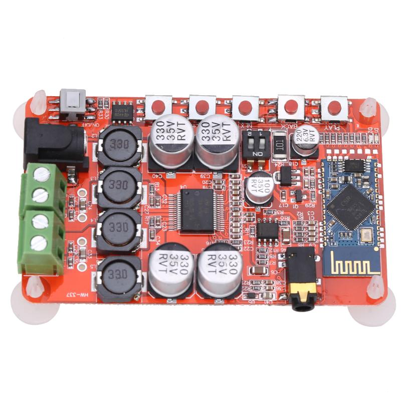 Wireless Bluetooth 4.0 Audio Receiver Digital Amplifier Board TDA7492P DC 8~25V 50W+50W Amplifier Board Part Component Parts