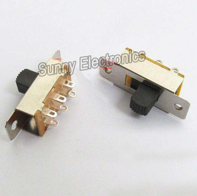 10 шт. x 6P DPDT припой Pin 2 позиционный скользящий переключатель