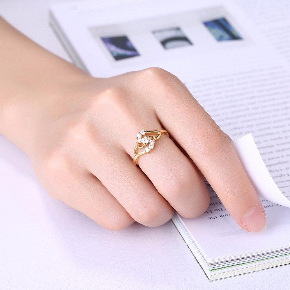 Women\'s Fashion Jewelry Rings Size #10 #9 #8 #7 #6 8K gold charm ...