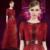 Vestidos de celebridades 2017 Vinho Bordado Vermelho do baile de Finalistas no BAFTA Awards Tapete Série Meia Manga Vestido de Gola Alta Vestido de Festa