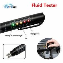 Лучшее качество тормозной жидкости тестер Мини Электронная ручка с 5 светодиодный для DOT3/DOT4 автомобиля диагностические инструменты автомобильные аксессуары