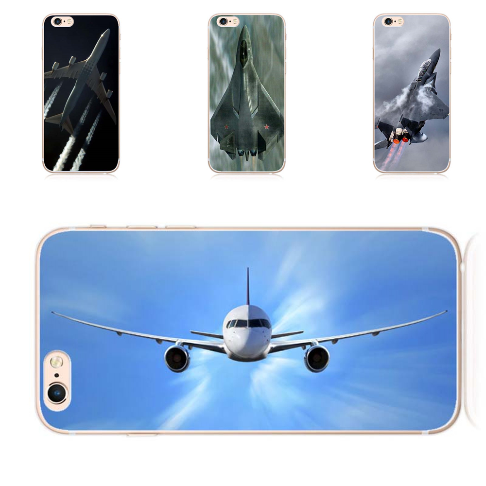 Fighter Propeller Plane Aircraft Airplane Design Clear Case Cover For Iphone 7 7plus 6 6s Plus