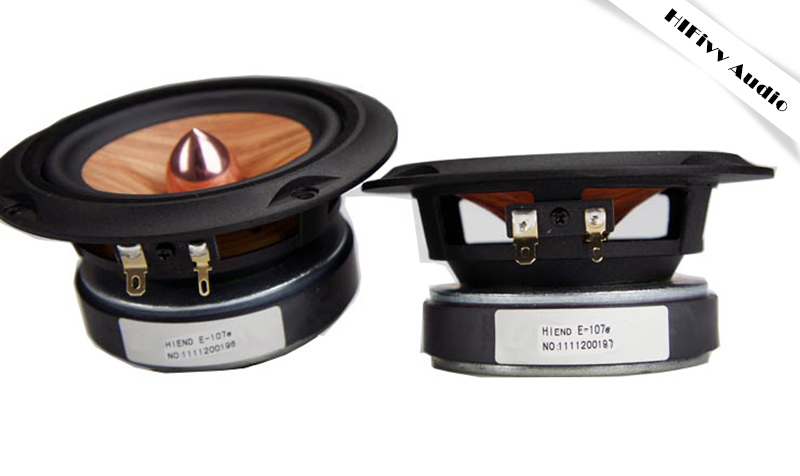HIFI audio 4 Square full range speaker paper 4 inch Full Range Speaker cone Aluminum bullet Casting Aluminum Basket 8ohm 20W