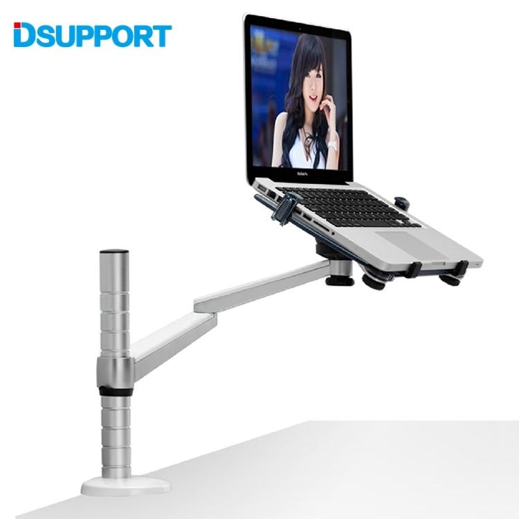 360 Rotation Aluminum Alloy 2 in 1 Tablet PC Holder + Laptop Stand Holder Dual Arm Office Desktop Lapdesk Bracket OA-1S