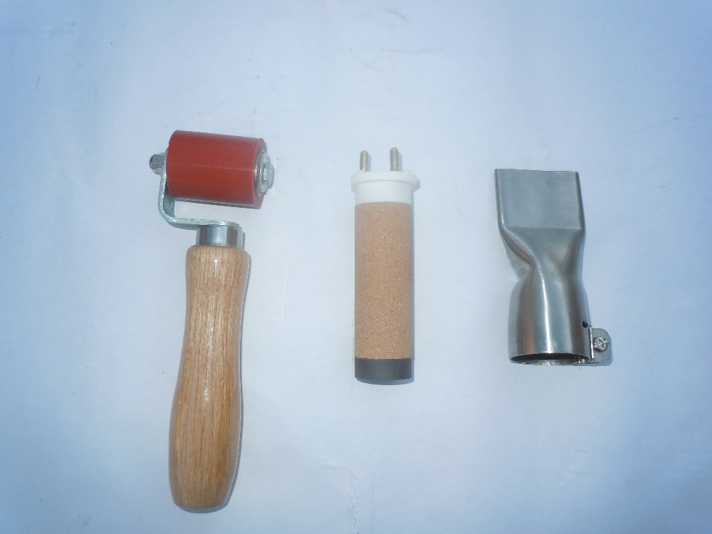 40mm pressure roller+1600w heat element+ 40mm flat nozzle for plastic hot air welder [randomtext category=