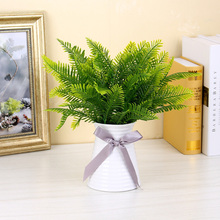 Artificial Plants Persian Plastic Tropical Palm Tree Leaves Home Garden Accessories  Decoration Photography Decorative flower