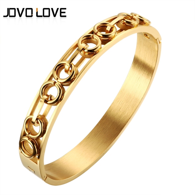 Unique Multi Circle Knot Design Gold Bracelets for Men Women Punk