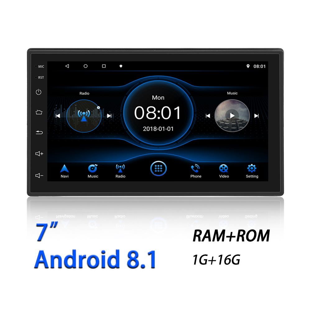 Car Navigation Device GPS Android 8.1 7-inch Quad-core HD Car Intelligent GPS Navigator Bluetooth 4.0 Universal Car FM Radio(China)