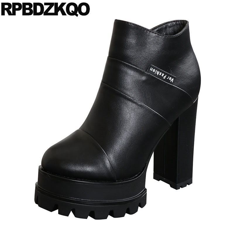 0597155c42 Cheap 10 White Platform Boots Ankle Extreme Waterproof Fetish Size 43 Big  Women Black High Heel ...