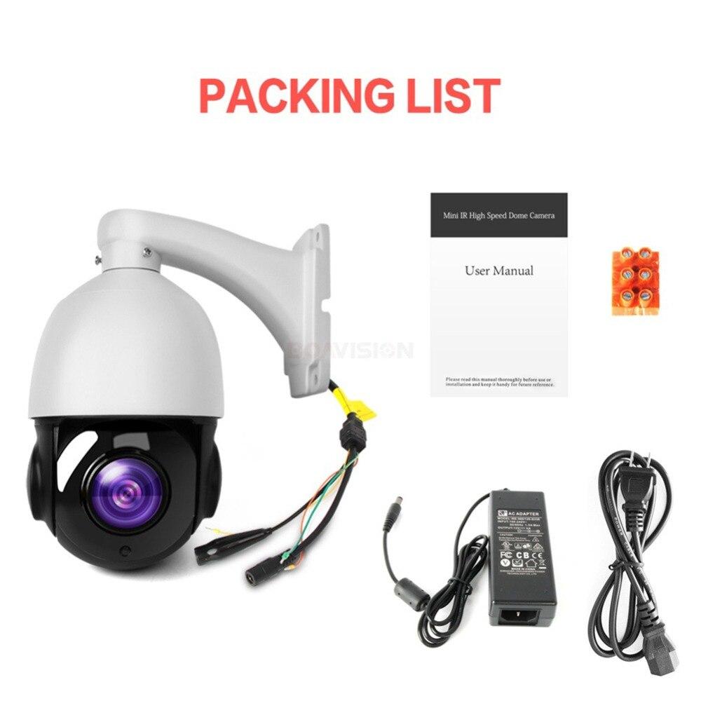 4.5 pouces 1080 P AHD PTZ caméra dôme 2MP 30X Zoom IR 50 M sécurité CCTV AHD caméra extérieure étanche caméra de Surveillance vidéo - 6