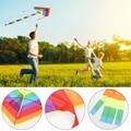 Top Vendendo 1 Pcs Rainbow Kite Sem Ferramentas Ao Ar Livre Esportes Diversão Fábrica Pipa Voando Crianças Triângulo Cor Pipa Fácil de Voar