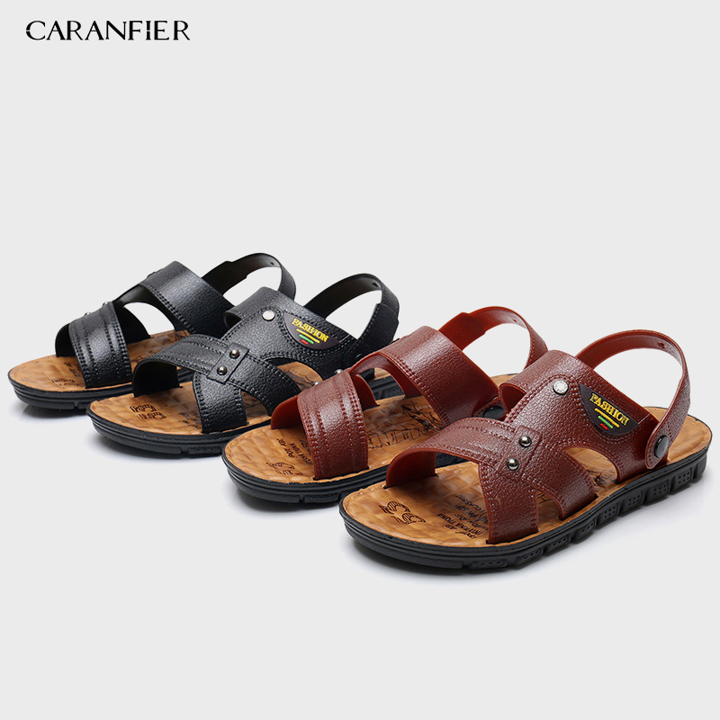 2PCS Summer Sandals Men Leather Classic Roman Sandals Slipper Outdoor Sneaker Beach Rubber Flip Flops Men Water Trekking Sandals2PCS Summer Sandals Men Leather Classic Roman Sandals Slipper Outdoor Sneaker Beach Rubber Flip Flops Men Water Trekking Sandals