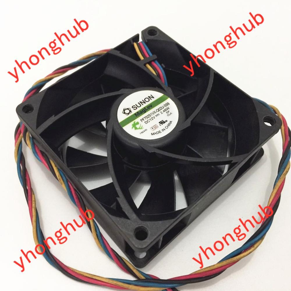 SUNON PF70251VX-Q02U-S99 DC 12 V 2.46 W 70x70x25mm 4 fils serveur refroidisseur ventilateur
