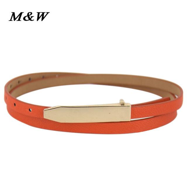 Metal Buckle Thin belt classic