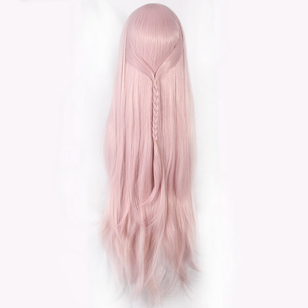 80cm 5v5 Arena Game Straight Long Pink Cosplay Wig Synthetic Braiding Hair Halloween Costume Party Wigs For Women in Anime Costumes from Novelty Special Use