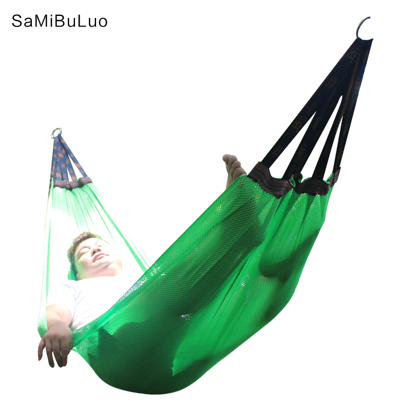 Outdoor Camping Hammock Breathable Lightweight Mesh Hammock with Tree Hanging Straps Rope for Backpacking Camping Travel Beach  Outdoor Camping Hammock Breathable Lightweight Mesh Hammock with Tree Hanging Straps Rope for Backpacking Camping Travel Beach