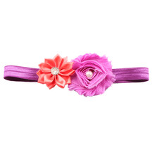 WOTT Best Sale 1PCS Kid Girl Baby beandband Toddler Infant Flower Headband Hair Bow Band Accessories New Purple Watermelon red(China)