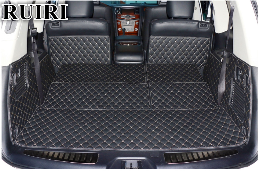 High quality! Special trunk mats for Nissan Armada 7 seats ...