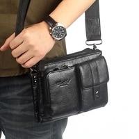 Men Cross Body Bag Genuine Leather Shoulder Cross Body Bag Cowhide Belt Waist Fanny Bag Hip Bum Clutch Hand Bag