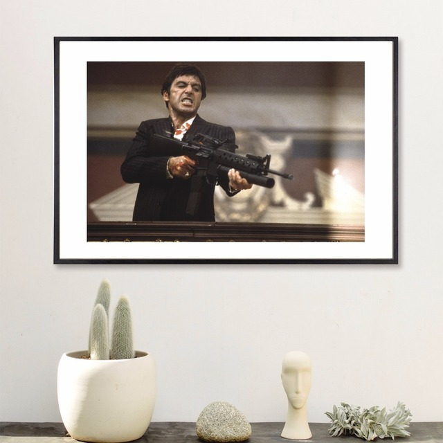 Scarface Movie Fight Canvas Art Print Painting Poster Wall Pictures ...