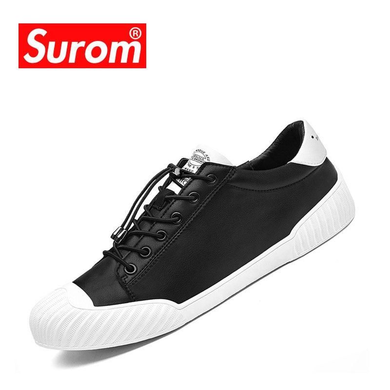 SUROM Mode Forår Efterår Casual Sko Komfortable Herre Flad Sneakers - Mænds sko