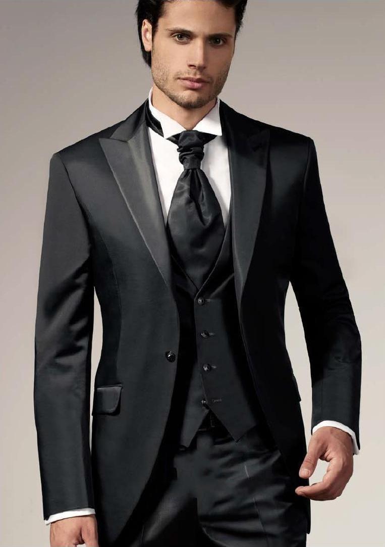 chaqueta Negro Z309 Hombre same Hombres Del Nuevos Padrinos Pantalones  Chaleco Trajes Novio Mejor Tie Blazer ... c3704f7feea