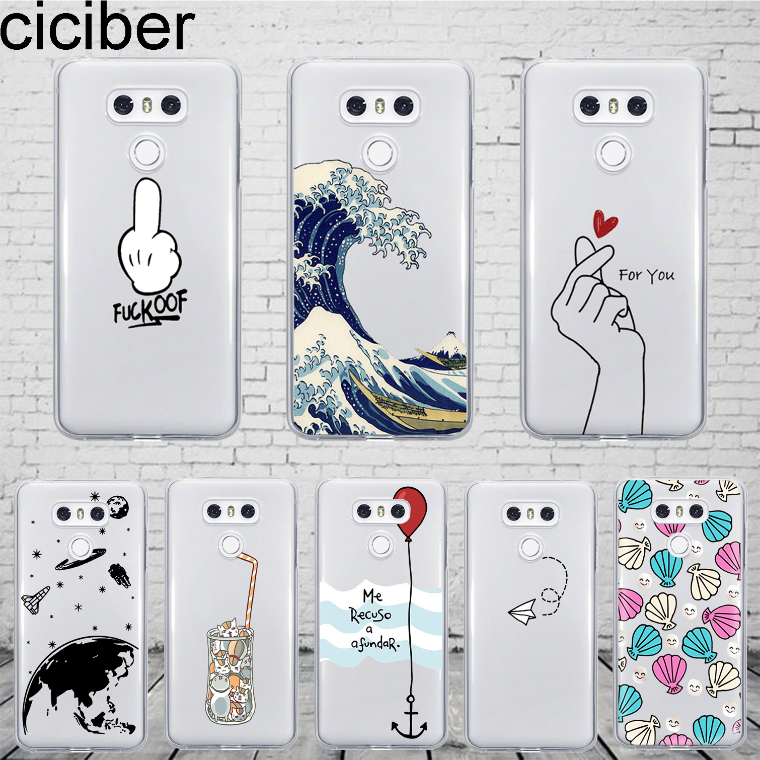 ciciber Balloon Finger Space For LG G7 G6 G5 G4 V40 V35 V30 V20 THINQ Phone Case K8 K10 K4 2017 2018 K9 K11 Plus Fundas