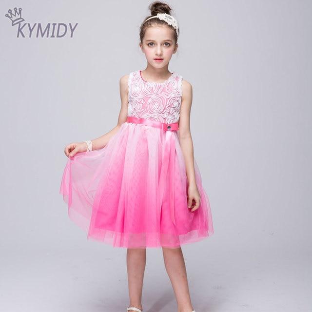77d870fc3 Gradiente Vestido de Niña de las flores Niños Vestidos para Niñas Flores  Decorado Niños Partido de