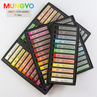 MUNGYO 12 24 36 48 Colors Soft Toner Ally Soft Pastel Stick Pen Coloring Crayons MPV