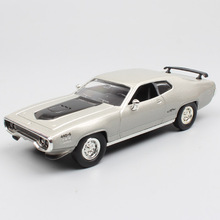 1/43 Scale Road signature Chrysler 1971 Plymouth GTX Muscle Runner diecast & vehicles cars models for childrens collection