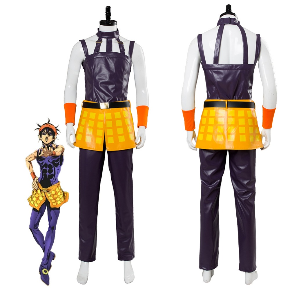JoJo s Bizarre Adventure  Golden Wind Ghirga Narancia Cosplay Costume Suit  Halloween Carnival Costumes Full Set Custom Made-in Anime Costumes from  Novelty ... 7b81db4e40a6