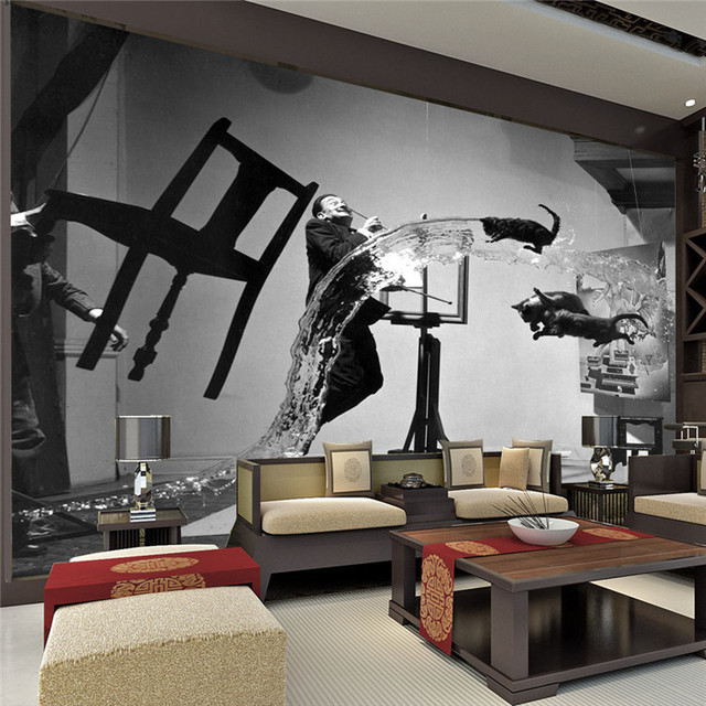 Painter Dali Photo Wallpaper Black And White Wall Mural Custom Art  Wallpaper Room Decor Painting Kid Part 49
