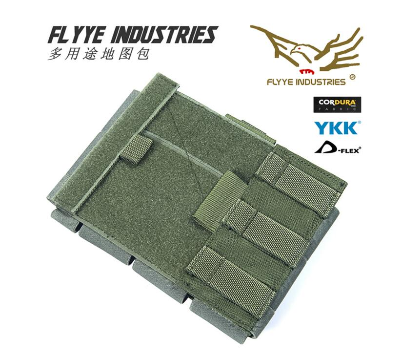 FLYYE  MOLLE   Multi Purpose Map Pouch Military Camping Hiking Modular Combat CORDURA PH-C036