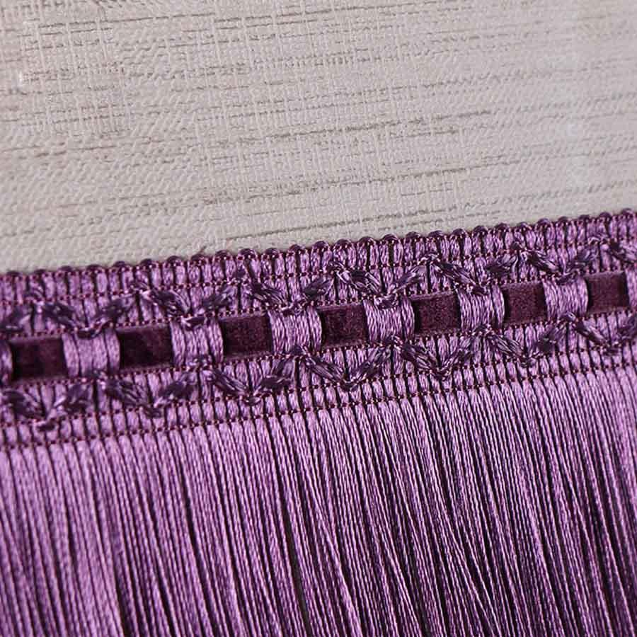 12 Meters 9cm European Tassel Fringe Satin Lace Tassel Polyester Silk Trim Ribbon Latin Dance Skirt Curtain Fringes For Sewing
