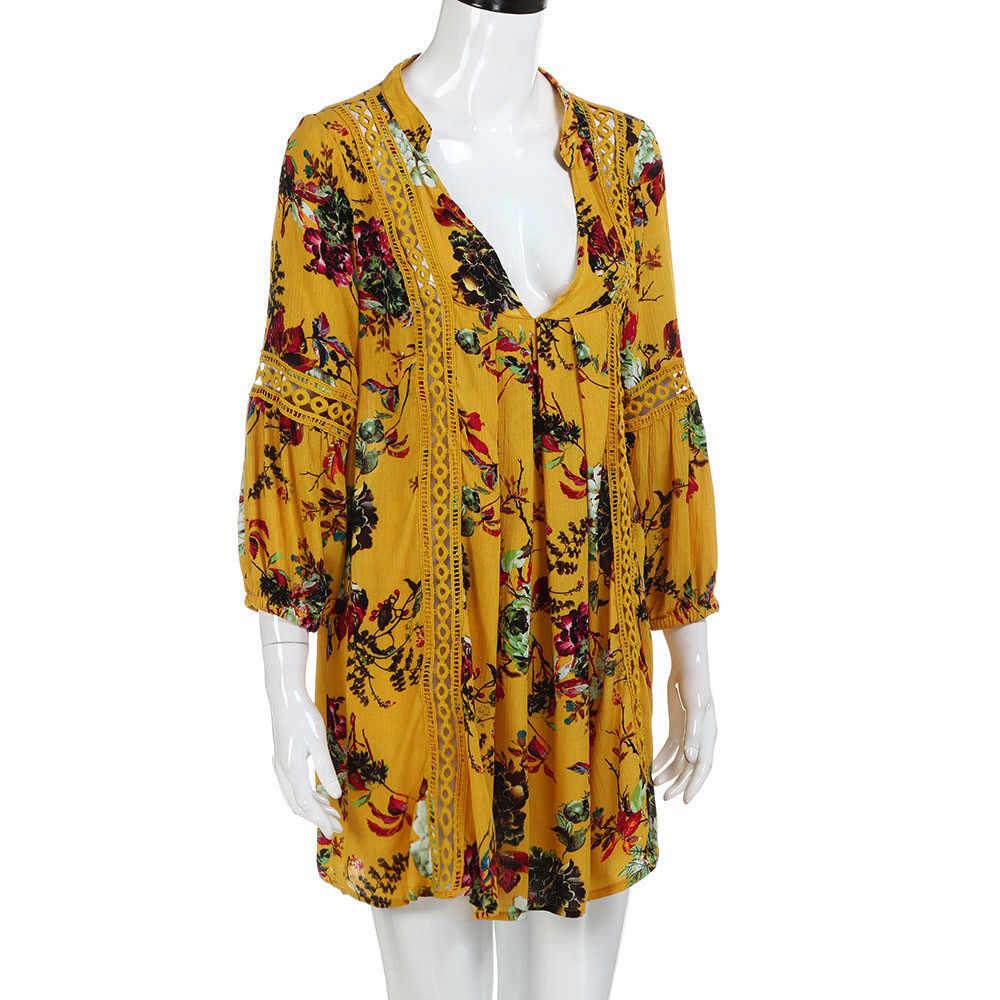 שמלת נשים vestido Boho פרחוני ארוך שמלת רך מקסי נוח שמלה קיצית שמלת mujer סקסי vestidos N1