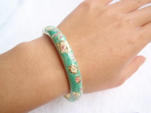 Vente chaude->@@ Wholesale10 PCS Superbe handmake Chinois En Émail Cloisonné Bracelet Manchette BRACELET-Top qualité livraison gratuite - 6