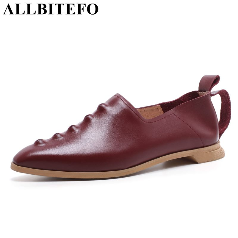 ALLBITEFO large size:33-43 genuine leather pointed toe high heels women pumps fashion high heel shoes spring women shoes allbitefo full genuine pointed toe high heels women pumps fashion sexy buckle thick heel office shoes spring high heel shoes