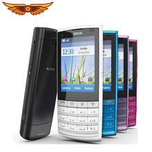 Best selling in Poland Original Nokia X3-02 3G Mobile Phone 5.0MP with Russian Keyboard polish language  One year Warranty