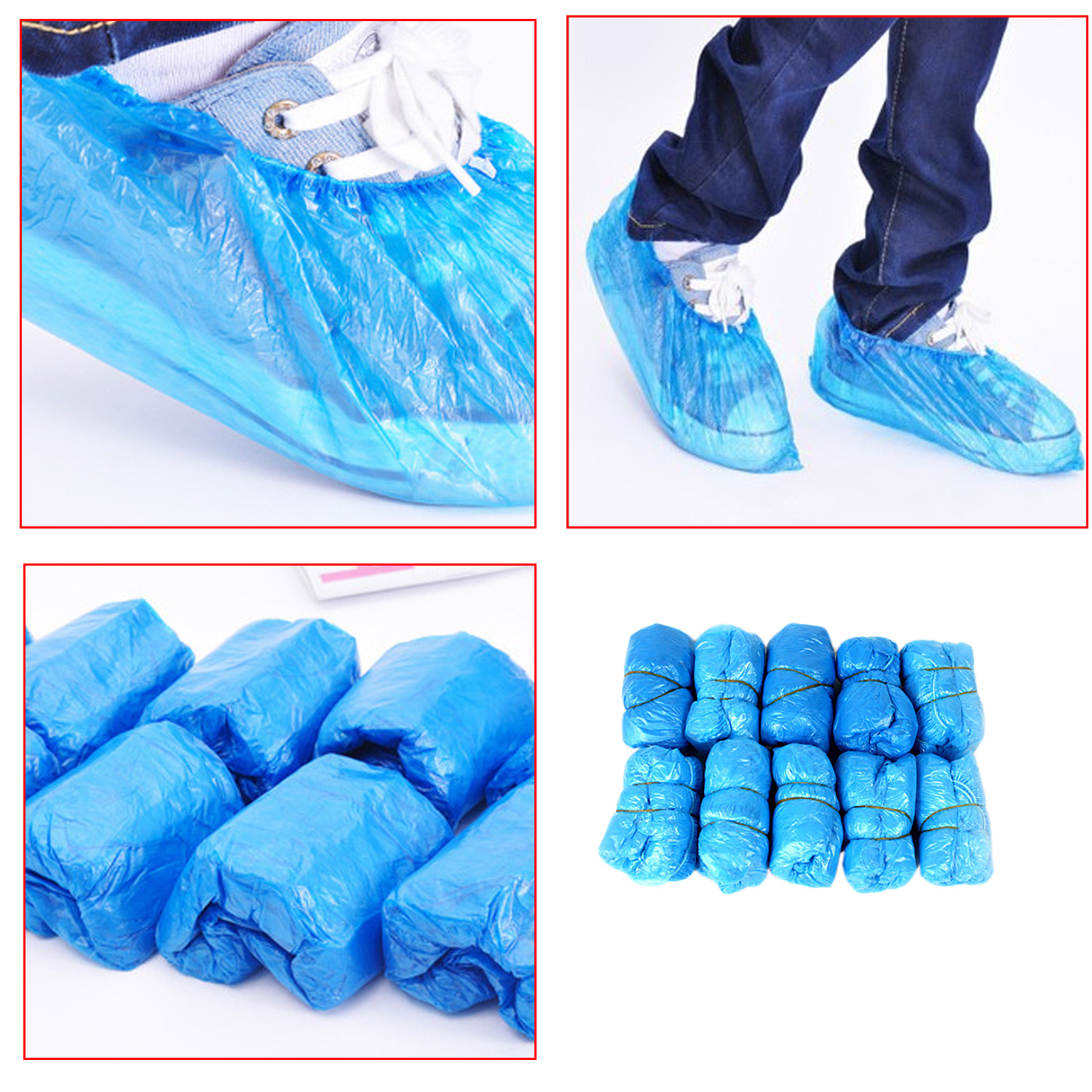 Behokic Waterproof Shoes Bag Practical Storage Retail Disposable PE Plastic Protective Shoe Covers Carpet Cleaning Overshoe