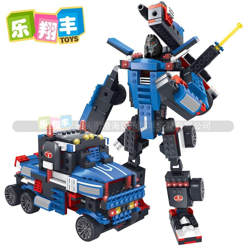 ФОТО Truck Building Blocks Sets Enlighten Child Educational DIY Toys Deform Model Bricks Toys For Children