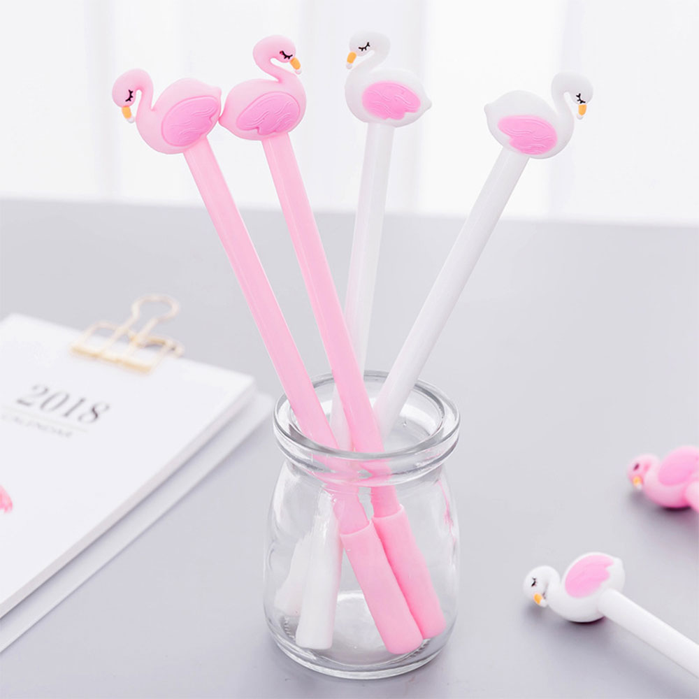 ZLJQ 1/3P Flamingo Swan Animal Gel Pen Refillable Wedding Birthday ...