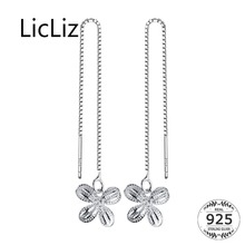 LicLiz 2019 New 925 Sterling Silver Cute Butterfly Drop Earring for Women Gold&White Gold Box Chain Long Drop Ear Jewelry LE0551 licliz 2019 new 925 sterling silver blue water drop crystal drop earring for women white gold box chain earring jewelry le0536