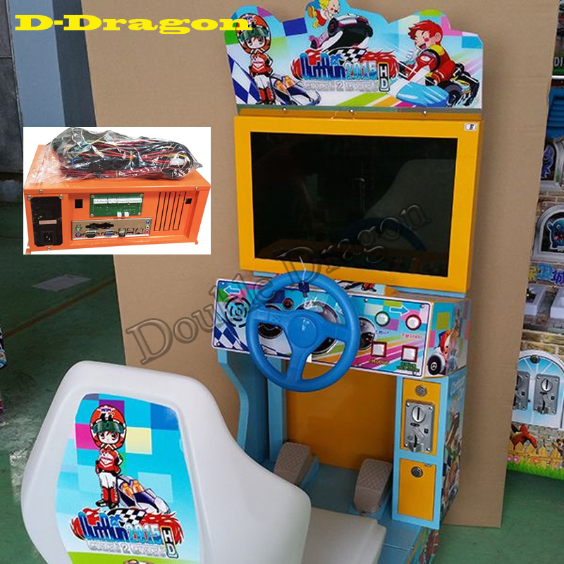 Children Outrun Racing Game Kit for LCD monitor car race game amusement mchine Coin operator arcade cabinet