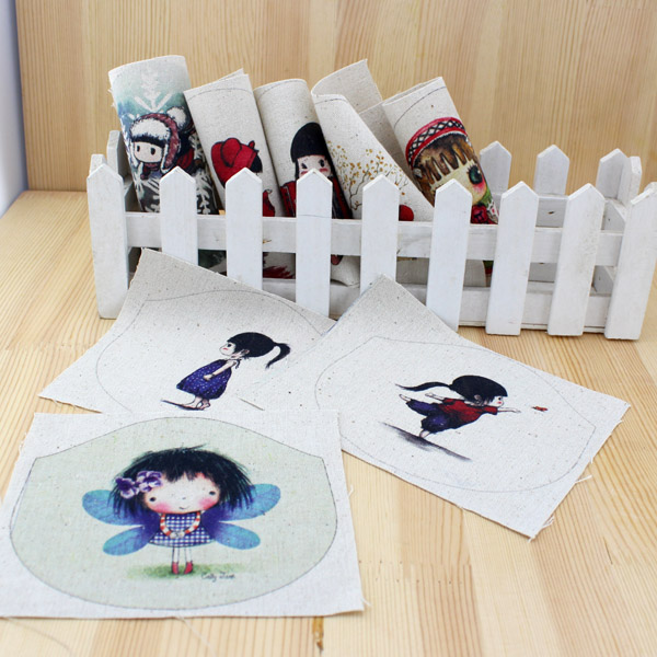 NºDibujos Animados DIY fieltro tela de algodón muñecas de tela para ...