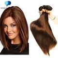 3pcs 4# Human Hair Bundles 8A Brazilian Virgin Hair Weave Coffee Brown Colored Brazilian Human Hair Straight tissage bresilienne