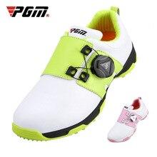 PGM обувь для гольфа для девочек; водонепроницаемые дышащие кроссовки для мальчиков; детская вращающаяся обувь с кружевом; нескользящие легкие кроссовки; D0757