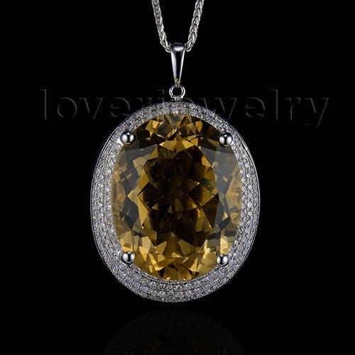 18K or jaune rempli-Noble Fleur Goutte TOPAZ Zircon Mariage Lady pendentif