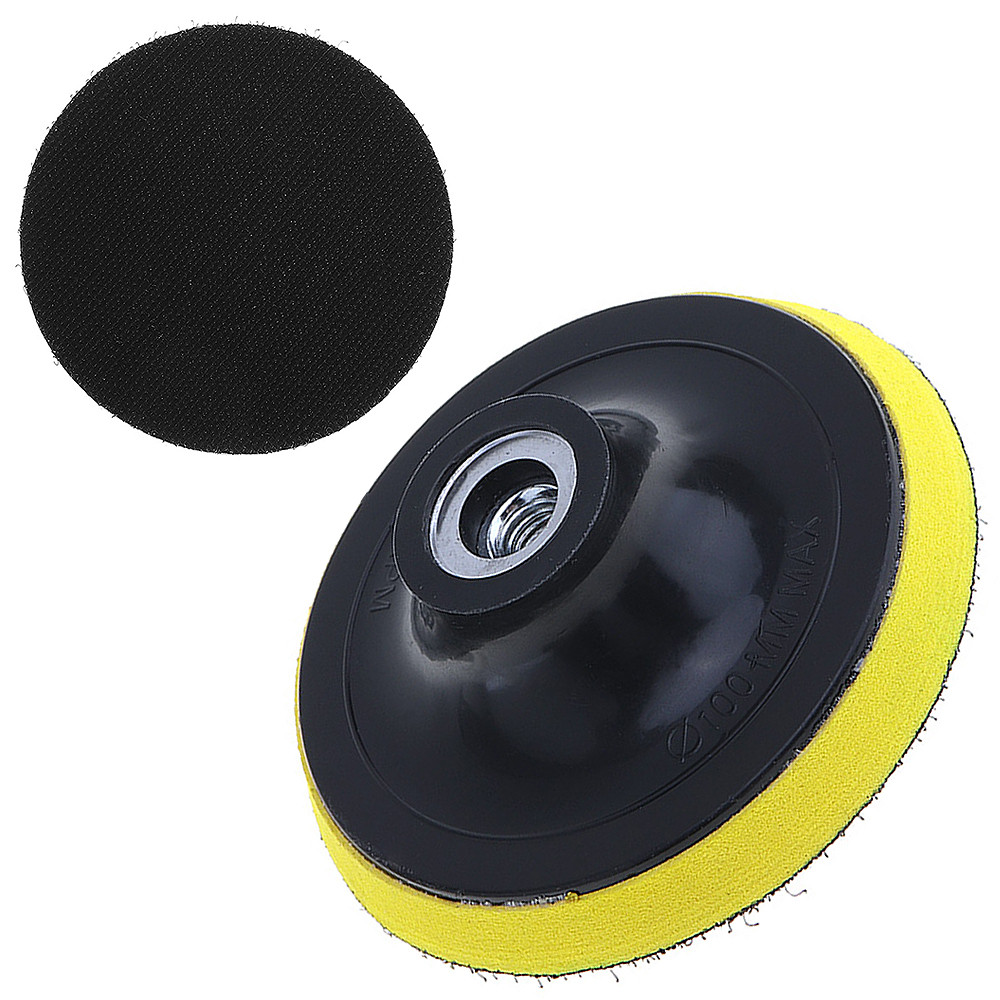 4 Inch Electric Suction Pad Self-adhesive Sandpaper Disc Sand Paper Disk With Threaded Hole For Automotive Metal Polishing